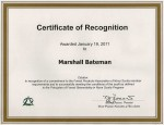 Marshall Bateman - Forest Products of Nova Scotia - Audit Certificate