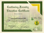 Marshall Bateman, RFP - Continuing Forestry Education - Certificate