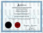 Marshall Bateman Red Seal Certificate